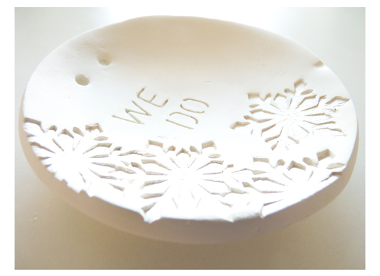 "This porcelain ring bowl from <a href=""http://www.etsy.com/shop/laniquehome"">LaNique Home</a> is the perfect wintery touch fo"