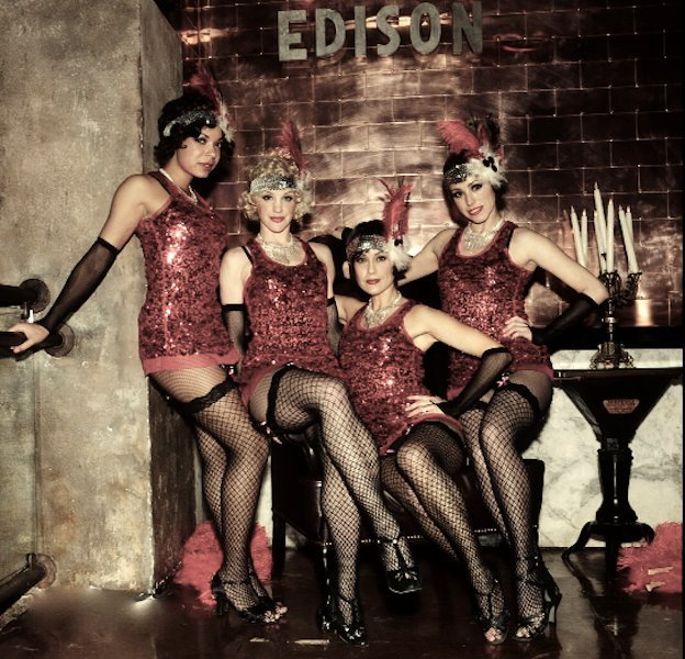 """<strong>Where:</strong> <a href=""""http://www.edisondowntown.com/main.htm"""">The Edison</a>, 108 W. 2nd St. #101, LA CA 90012  <s"""