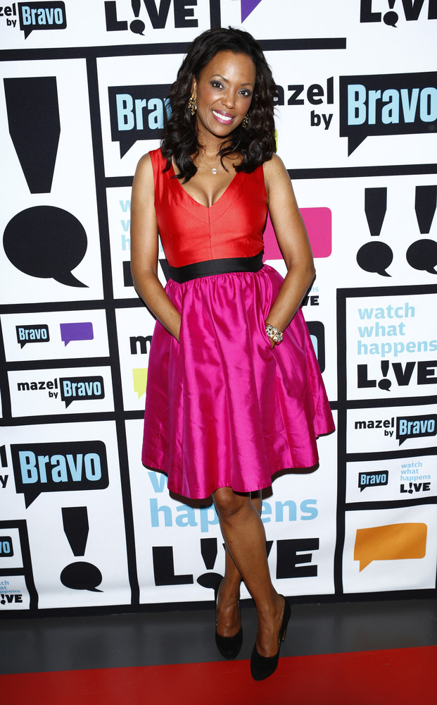 WATCH WHAT HAPPENS LIVE -- Episode 862 -- Pictured: Aisha Tyler -- (Photo by: Peter Kramer/Bravo/NBCU Photo Bank via Getty Im