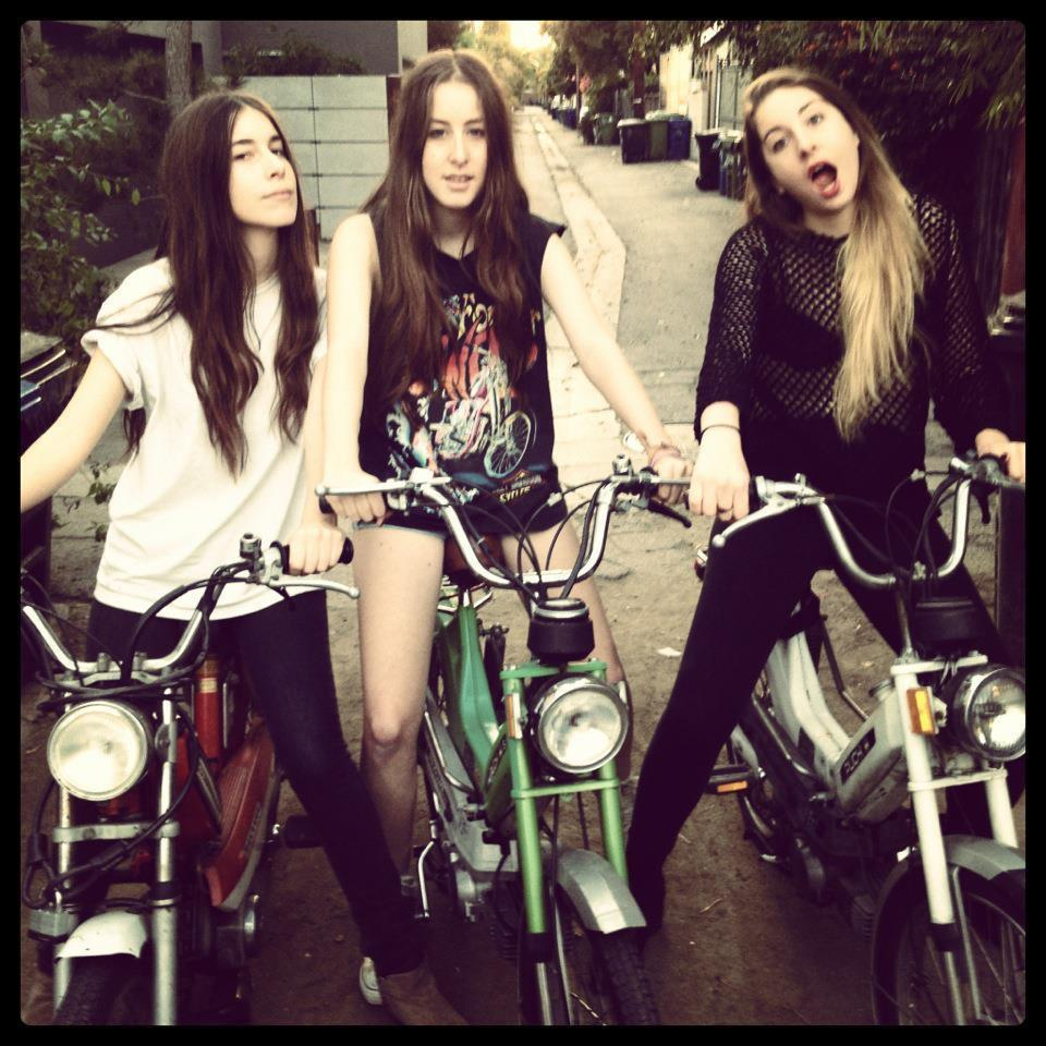 HAIM: Born and raised in LA. Danielle age 23, Alana age 21, Este age 25 [pictured left to right].