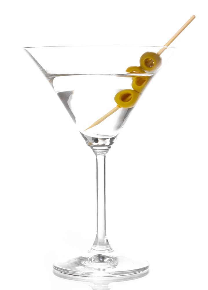 <strong>A better choice: Hot-pepper-infused vodka over ice with an olive (105 calories)</strong>  Like the suave gentleman wh