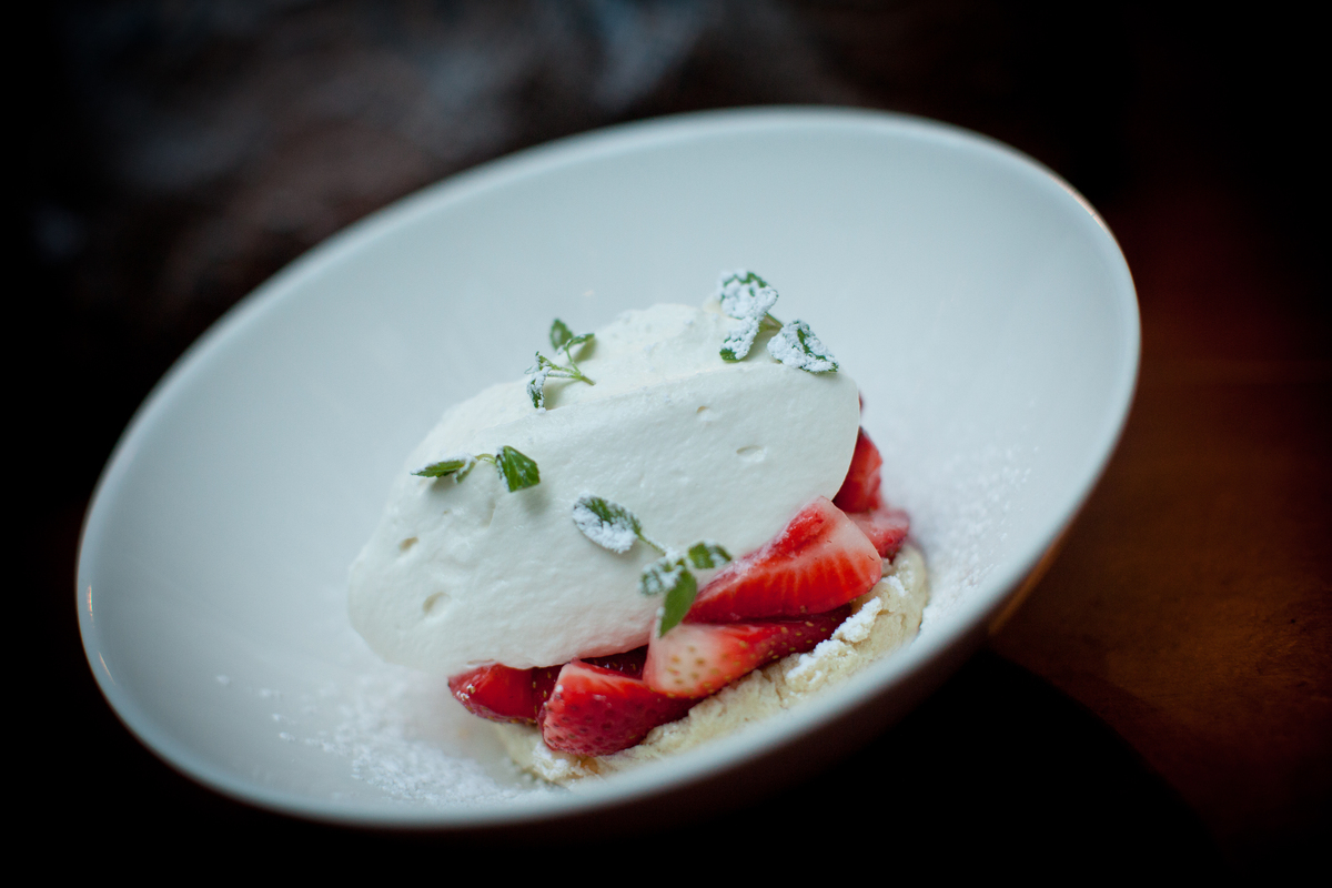 """You could spend an hour making classic American strawberry shortcake, but John Keller, chef at <a href=""""http://www.co-opresta"""