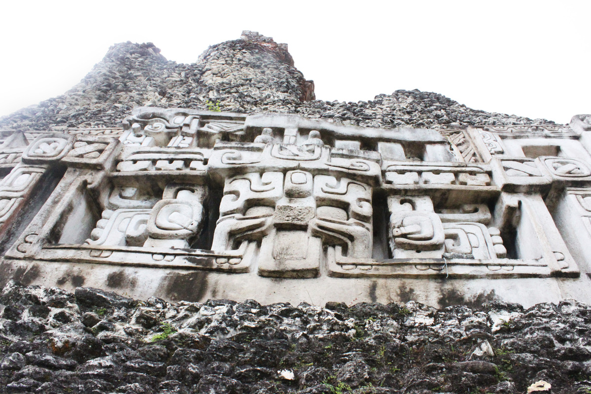The carvings at Xunantunich depict fearsome warriors and are probably the site's most striking feature. Though reinforced by