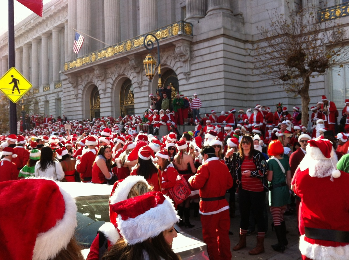 Thousands of drunken Santas take over the streets of San Francisco for daytime debauchery and one of the wildest annual holid