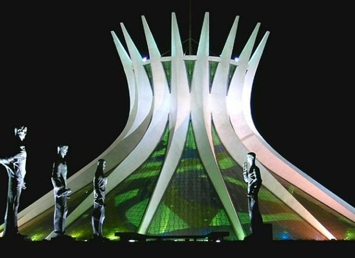 The futuristic Metropolitan Cathedral is one of the most eye-catching creations by Oscar Niemeyer in Brasilia, the capital ci