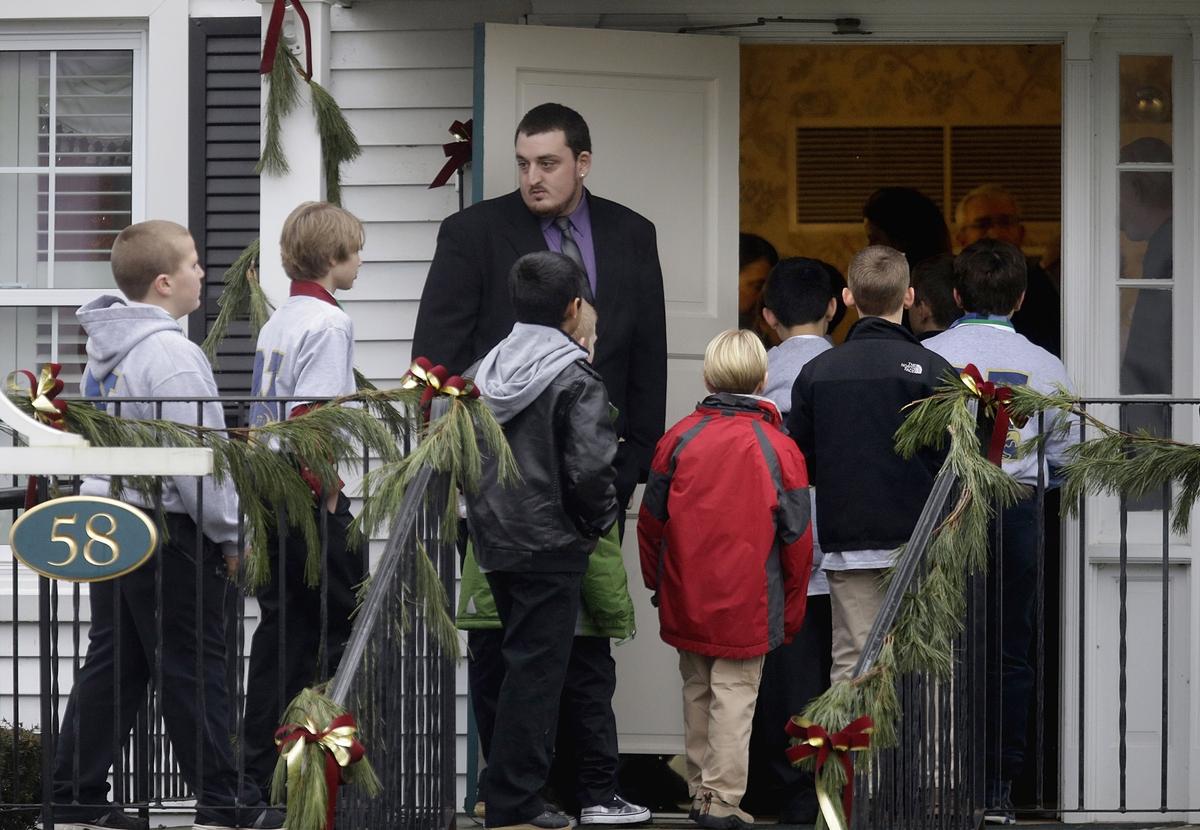 Funeral de Jack Pinto, de 6 años de edad, en la mañana del lunes 17 de diciembre.