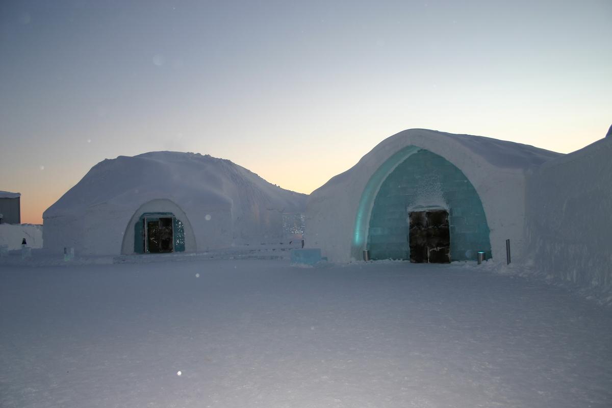 The Ice Hotel near the village of Jukkasjärvi, Kiruna, Sweden