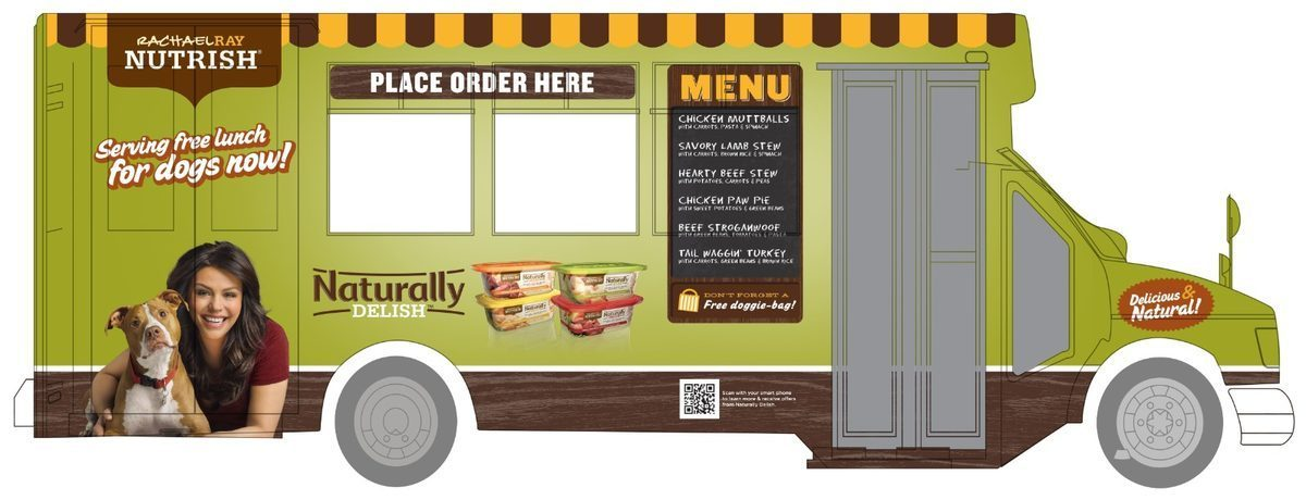 Rachael Ray has a food truck, but don't expect to find any delish or yum-o human treats on the menu. It's actually a <a href=