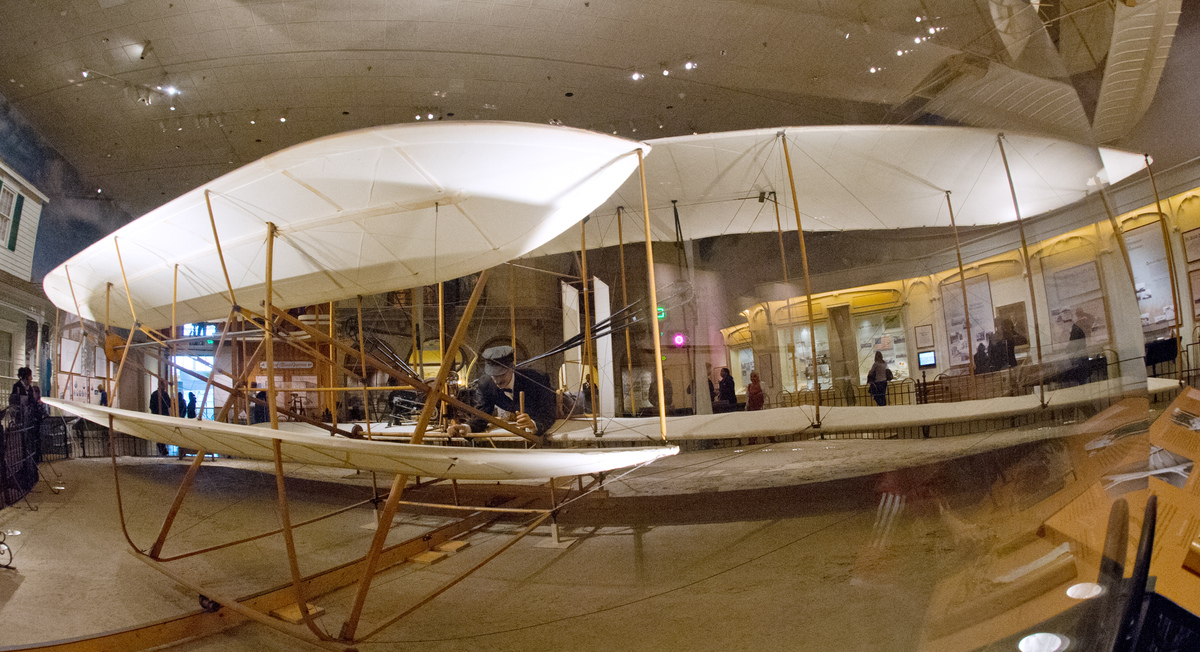This December 15, 2012 photo shows the original 1903 Wright Flyer, centerpiece of 'The Wright Brothers & The Invention of the