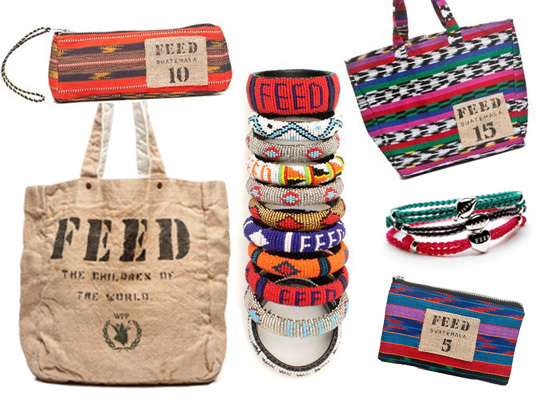 """<a href=""""http://www.feedprojects.com/"""">FEED</a>'s mission is to create and sell products that FEED the world. A portion of ea"""