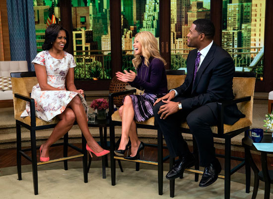 "Kelly and Michael were joined by Michelle Obama on ""LIVE!"" in October, and discussed the first lady's guilty pleasures includ"