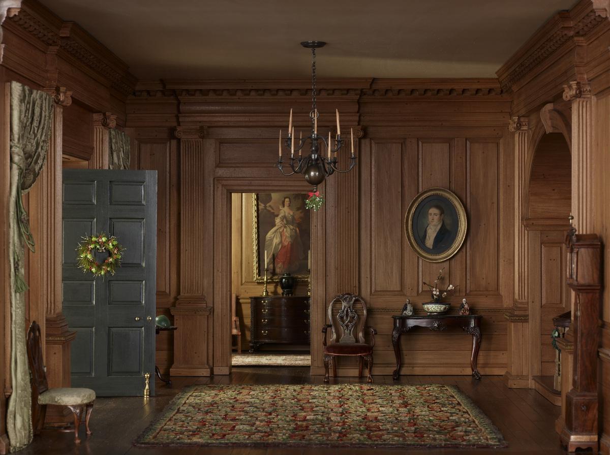 Mrs. James Ward Thorne. Virginia Entrance Hall, 1751–55 (detail), c. 1940. Gift of Mrs. James Ward Thorne.