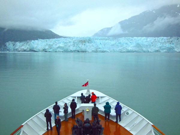 Glacier-watching from the Safari Endeavour. (All photos by Trish Feaster)