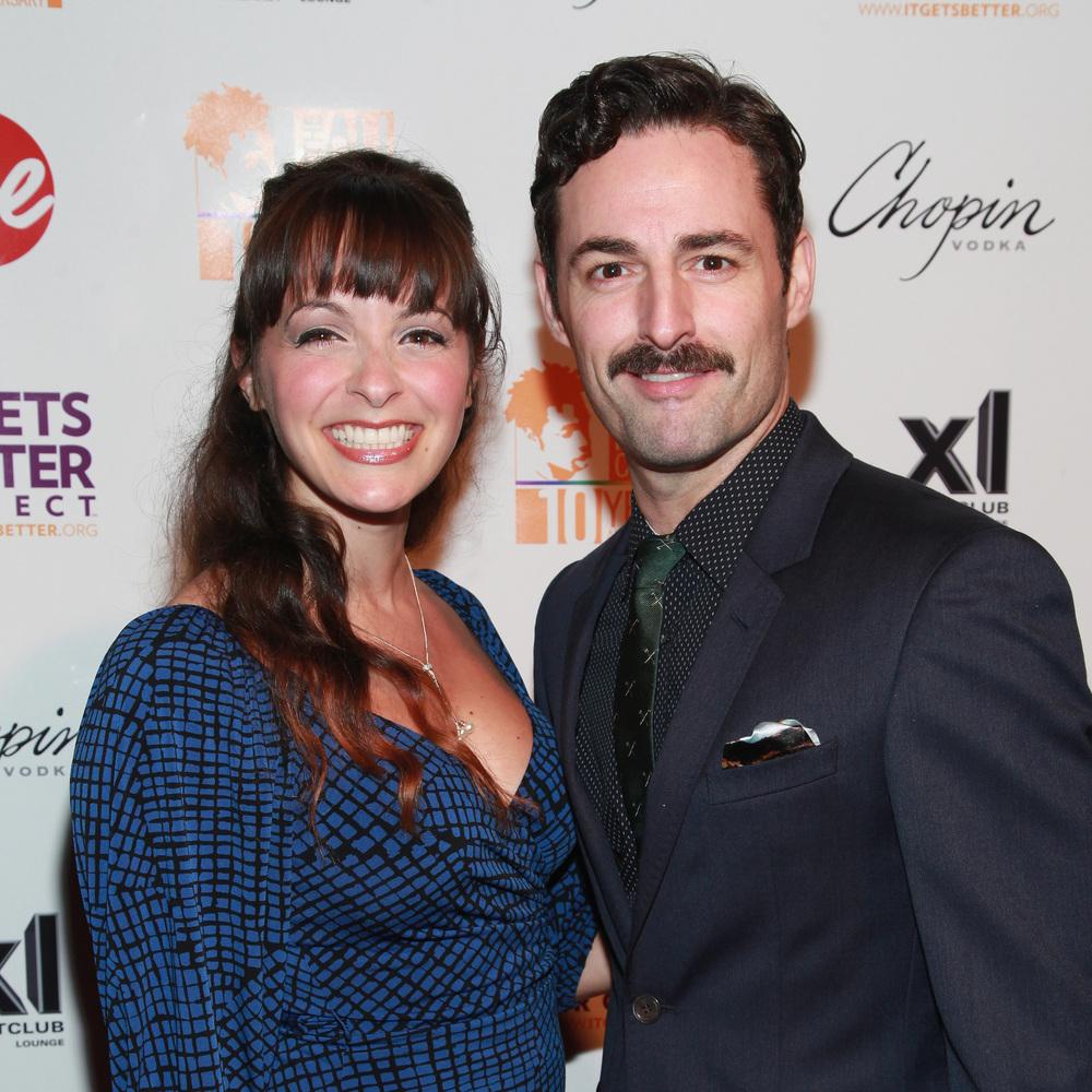 """Evita"" stars Christina DeCicco and Max von Essen strolled the red carpet before the performances began."