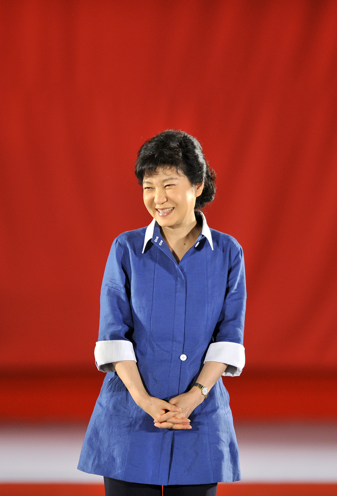 Park says she's open to dialogue with North Korea's leadership but says large-scale aid depends on whether Pyongyang pushes a