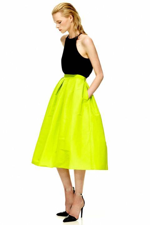 Tibi's silk faille full skirt from the Resort 2013 collection