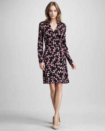"<a href=""http://www.neimanmarcus.com/p/Diane-von-Furstenberg-New-Jeanne-Wrap-Dress-Icy-Pink-Wavy-Print-Dresses/prod150890322_"