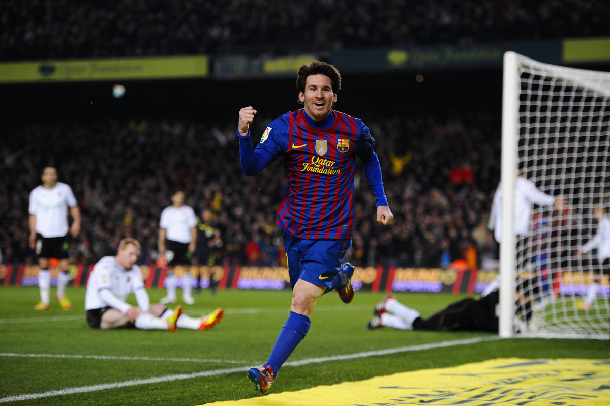 Lionel Messi of FC Barcelona broke Gerd Muller's 40-year-old record for most goals scored in a year when he scored his 86th g