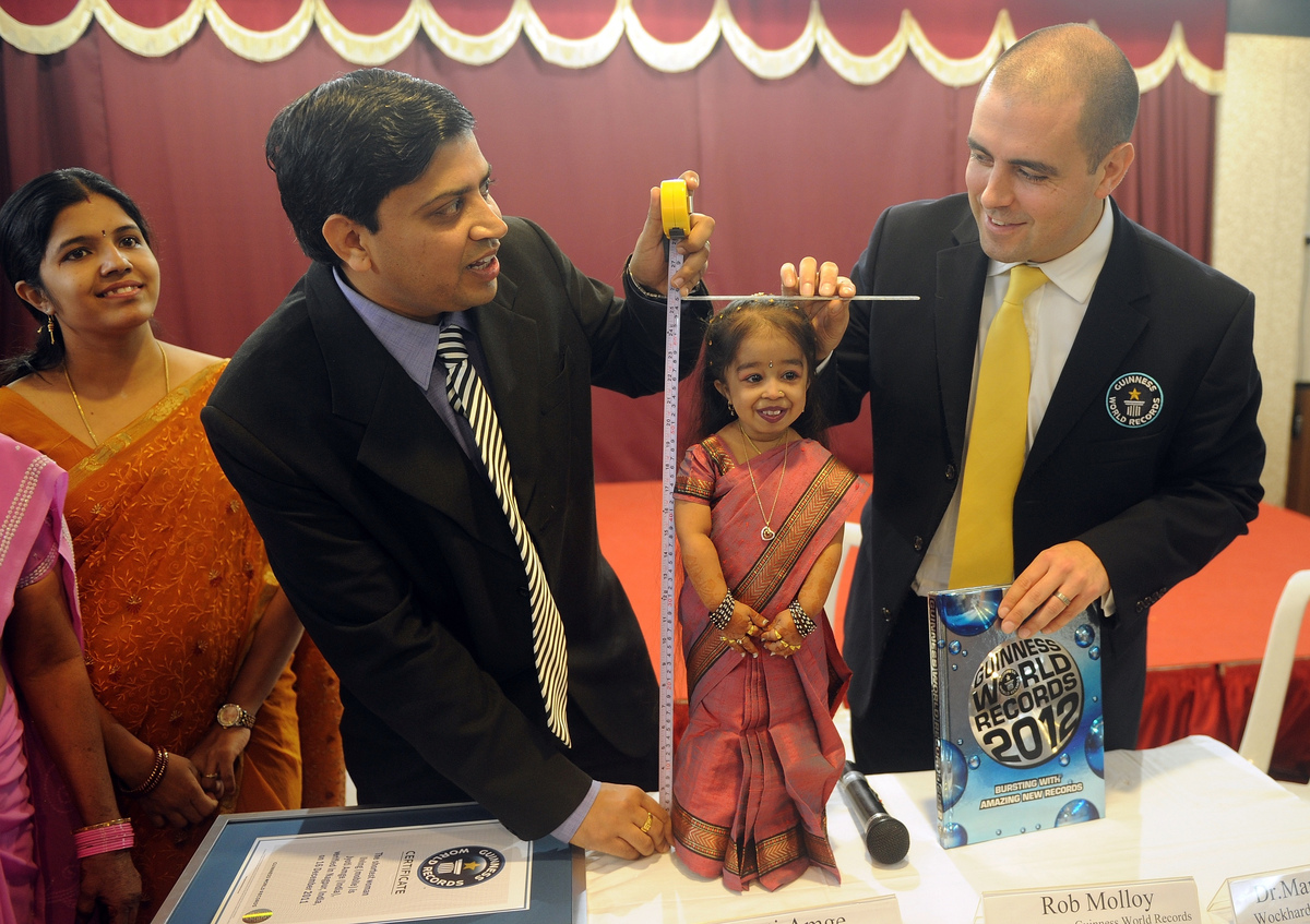The world's smallest woman, Jyoti Amge, 19, became the world's smallest election campaigner this year when she announced her