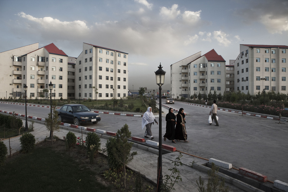 Shahrak-e Aria is a new district of apartment complexes in the north of Kabul, near the airport. (Sandra Calligaro/Picture Ta