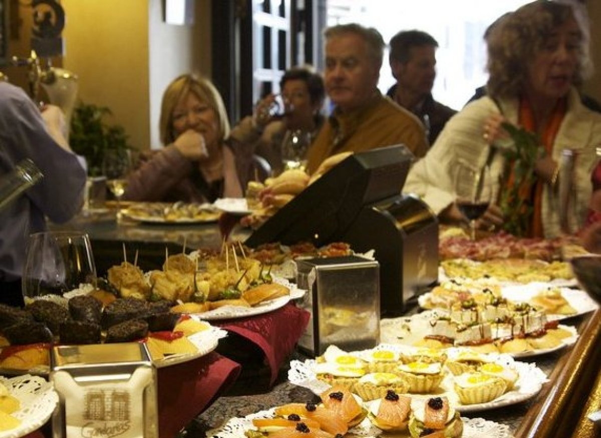 San Sebastian's Bar Ganbara offers patrons a variety of pintxos, Basque-style tapas. Twice a day, people pour into the city s