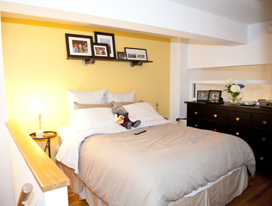 The loft apartment allows for adequate sleeping space.