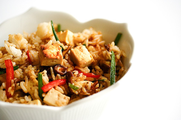 """<strong>Get the <a href=""""http://steamykitchen.com/148-vegetable-fried-rice.html"""">Vegetable Fried Rice recipe</a> by Steamy Ki"""