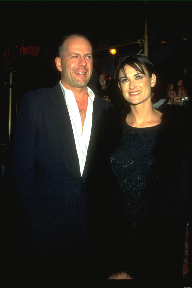 """Former Hollywood power couple Bruce Willis and Demi Moore <a href=""""http://www.people.com/people/archive/article/0,,20125762,0"""