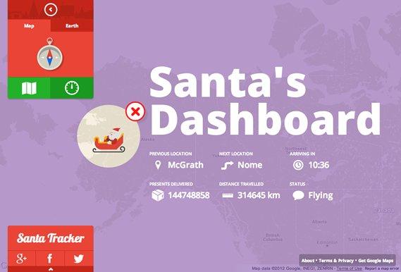 """<strong><a href=""""www.google.com/santatracker/"""">http://www.google.com/santatracker/</a></strong>  For the first time ever, Goo"""