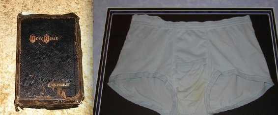 "Who would want to own <a href=""http://www.huffingtonpost.com/2012/09/10/elvis-presleys-bible-auction-94000-stained-underwear_"