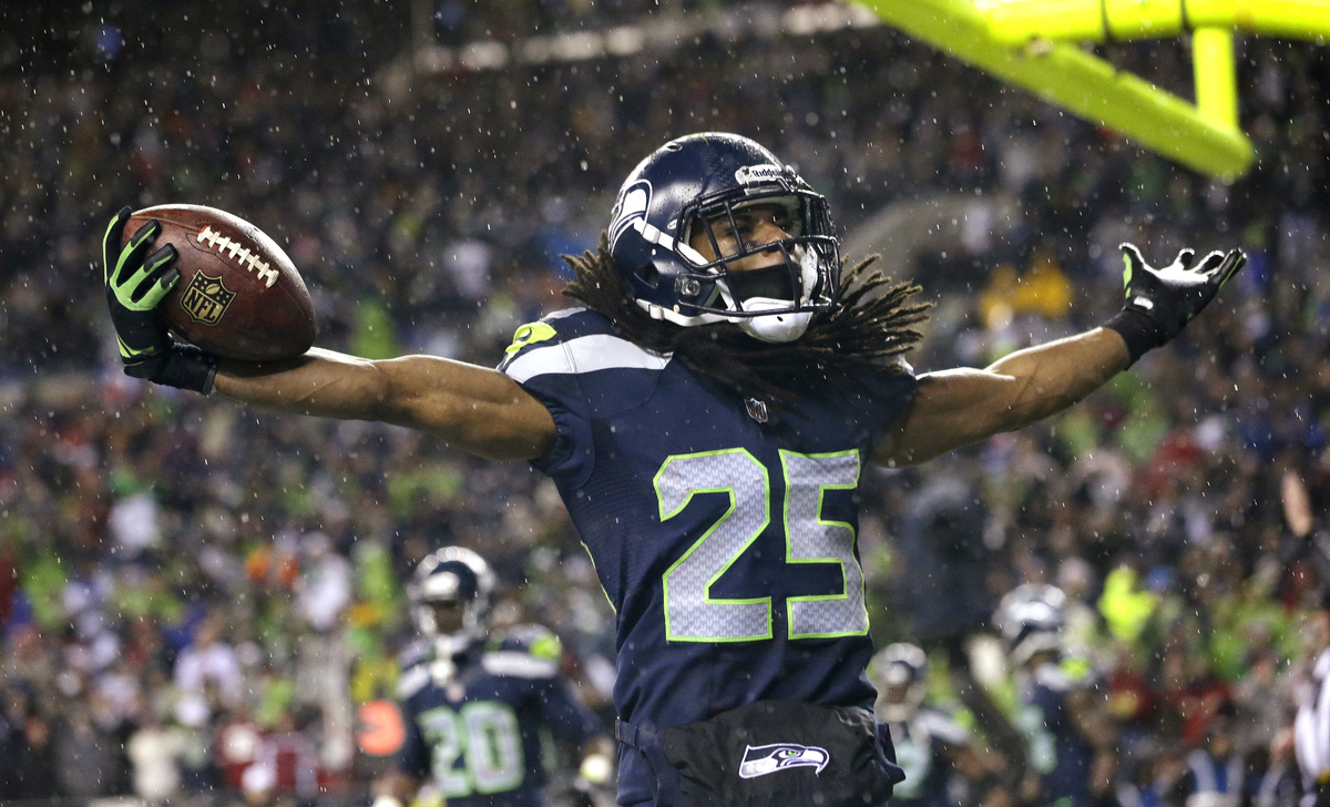 Maybe Richard Sherman's potential drug suspension had an impact on the voters. Because how else would Sherman have been left