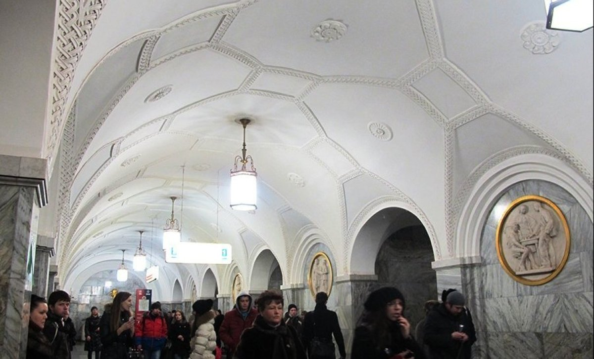 Most of the metro stations in Moscow are busy, architecturally beautiful, and huge. It is the world's third most heavily used