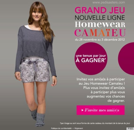 "In this ad for French clothing brand <a href=""http://www.camaieu.com/en/Home.aspx"">Camaïeu</a>, a model wears a cozy sweatshi"