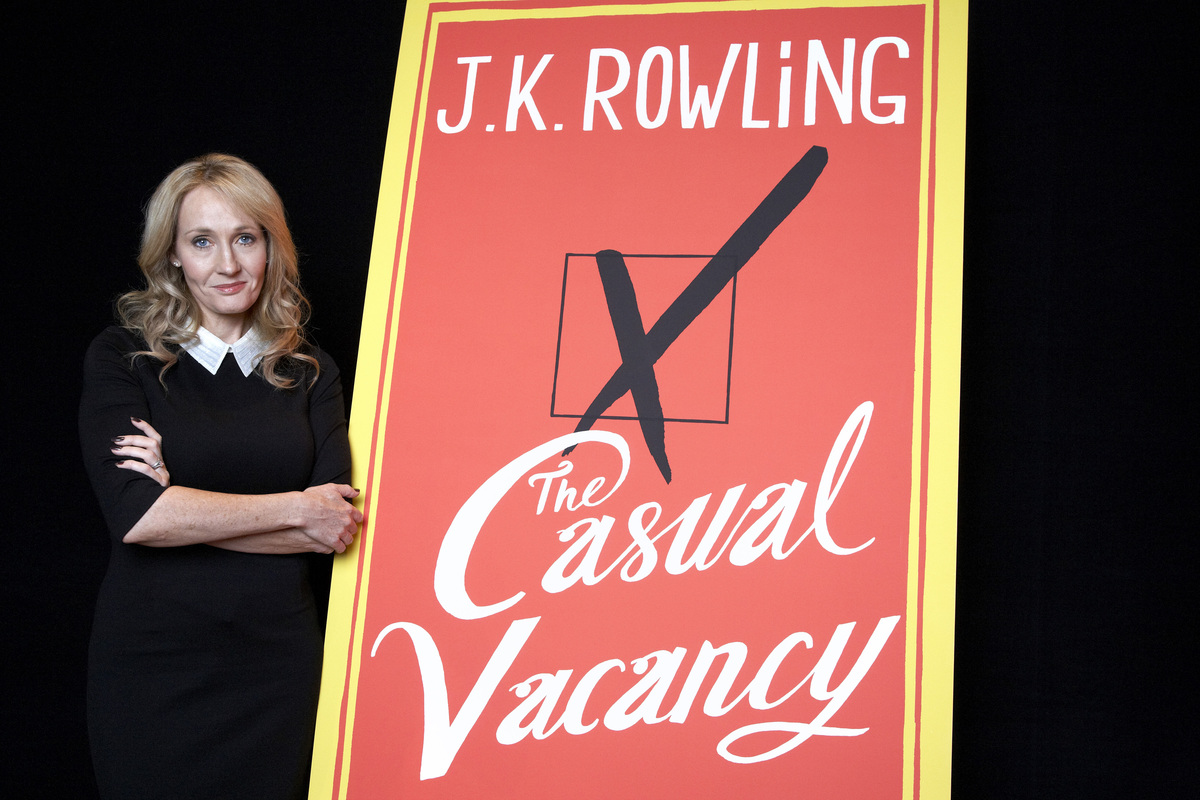 "It was the moment she left Hogwarts, and she did it <a href=""http://www.huffingtonpost.com/2012/09/26/the-casual-vacancy-revi"