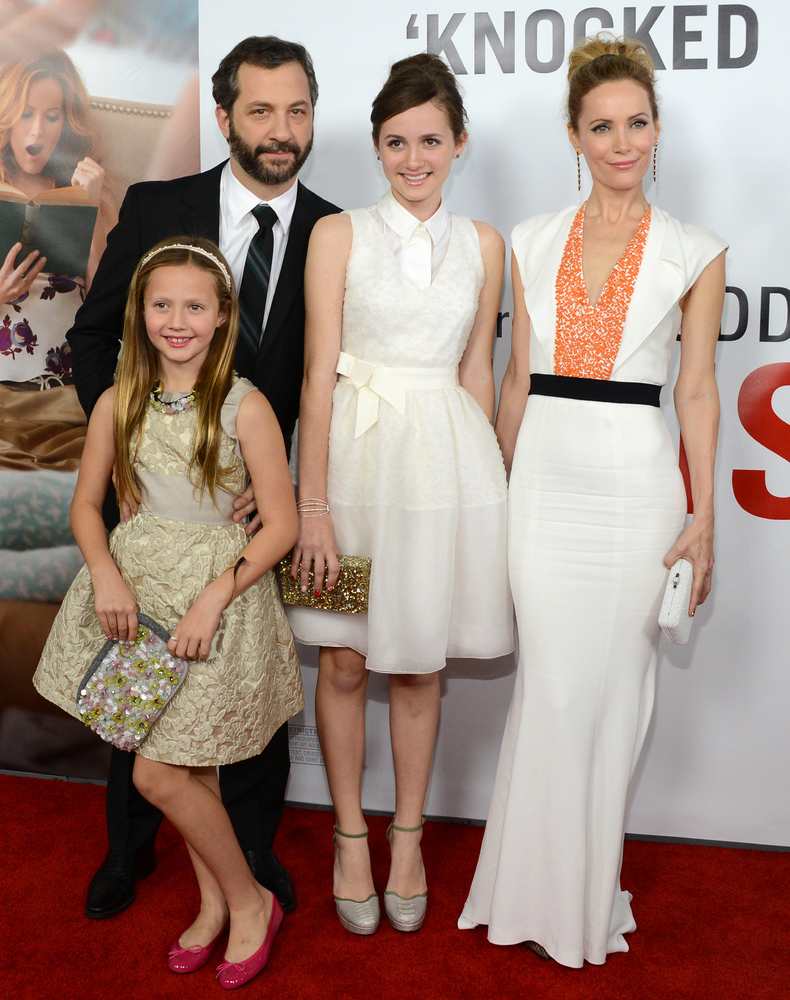 "Leslie Mann and Judd Apatow's daughters have appeared in the films ""Knocked Up,"" ""Funny People"" and ""This Is 40"" as the child"