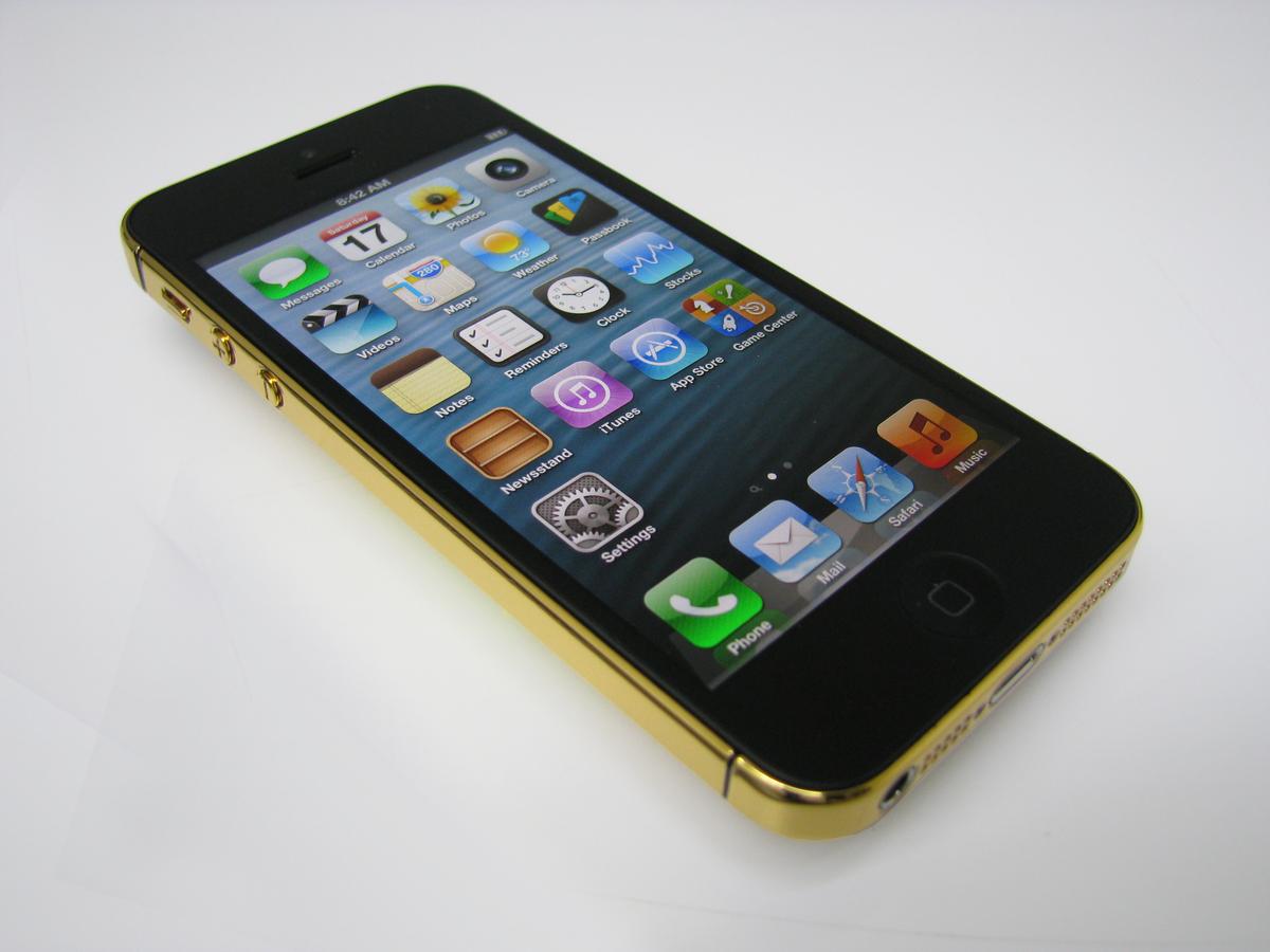 Polished 24 karat Gold iPhone 5.
