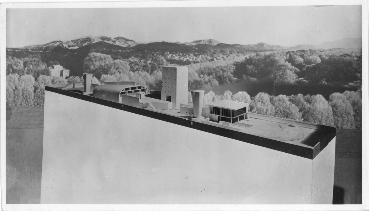 Le Corbusier (Charles-Edouard Jeanneret) (French, born Switzerland. 1887-1965). Marseille, model of the superstructure showin