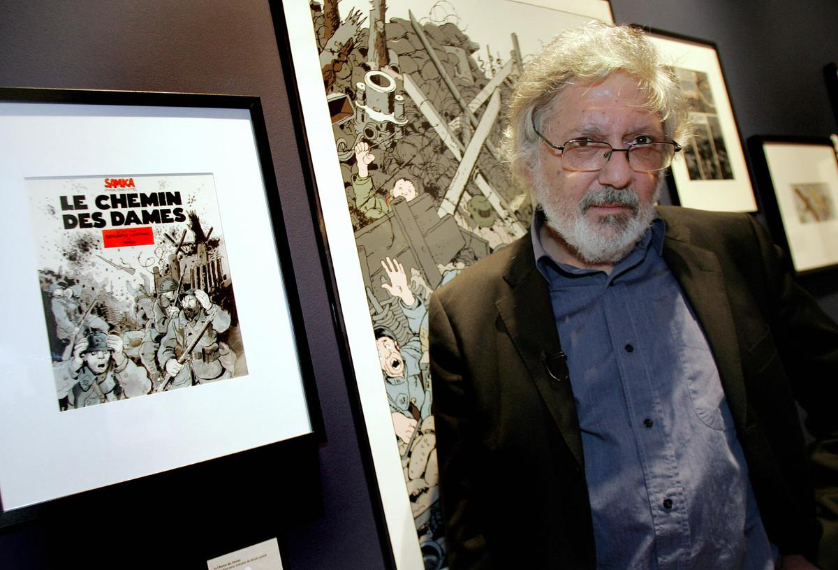 French cartoonist Jacques Tardi poses on May 14, 2009 at the museum dedicated to the history of World War I, L'Historial, in