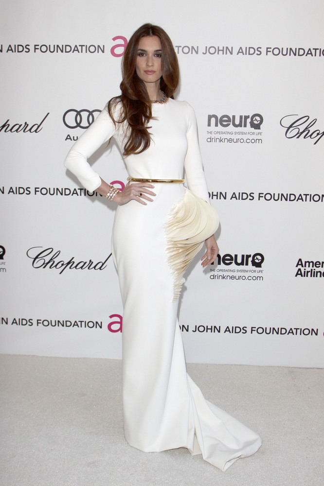Paz Vega arriving for the Elton John Aids Foundation Academy Awards Viewing Party at West Hollywood Park in Los Angeles, USA.