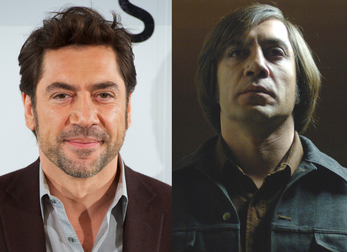 "Javier Bardem sported a pretty unflattering haircut for his role as an vicious sociopath in the film ""No Country for Old Men."