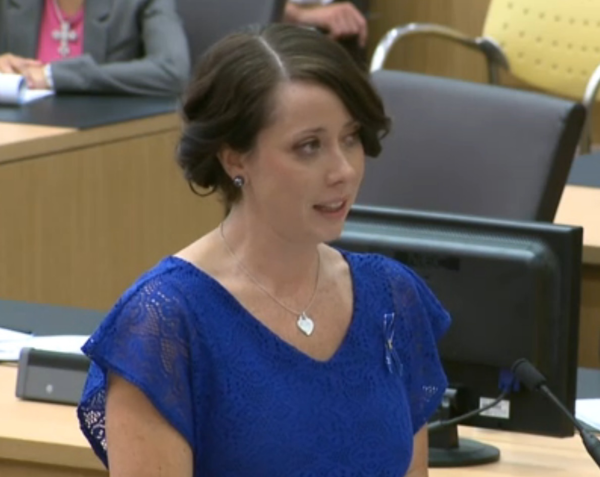 Travis Alexander's sister, Samantha, read her emotional victim impact statement during the penalty phase of Jodi Arias' trial
