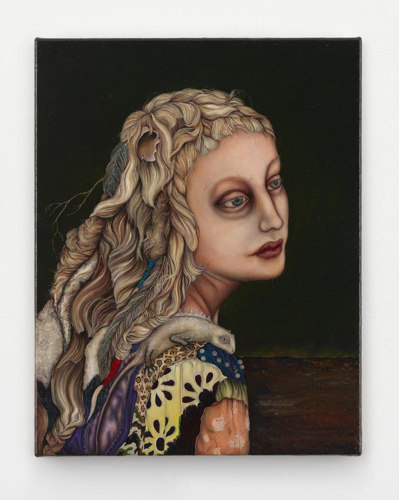 Anj Smith The moon, like a flower 2012 Oil on linen 36 x 28.5 cm / 14 1/8 x 11 1/4 in  © Anj Smith Courtesy the artist and Ha