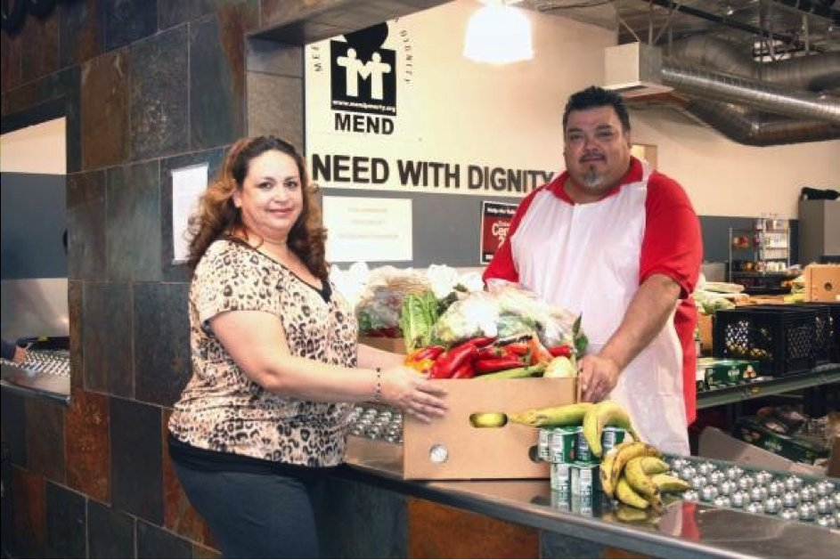 """Mission: With dignity and respect, powered by volunteers, <a href=""""http://mendpoverty.org/"""">MEND</a>'s mission is to break th"""