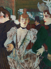 Henri de Toulouse-Lautrec La Goulue entering the Moulin Rouge [La Goulue entrant au Moulin Rouge] 1892  oil on cardboard, 79.