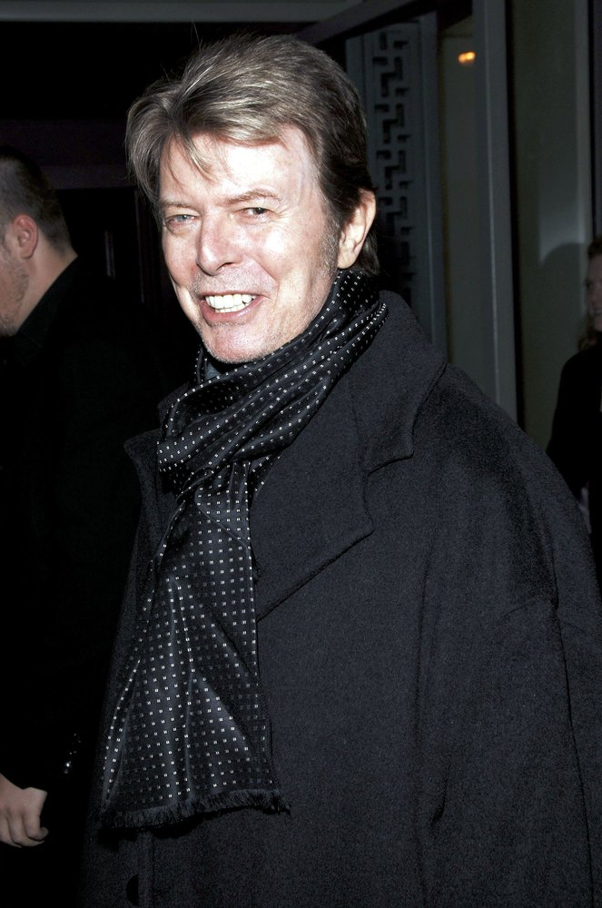NEW YORK - JANUARY 19: David Bowie attends the opening of Lou Reed NY photography exhibit at the Gallery at Hermes on January