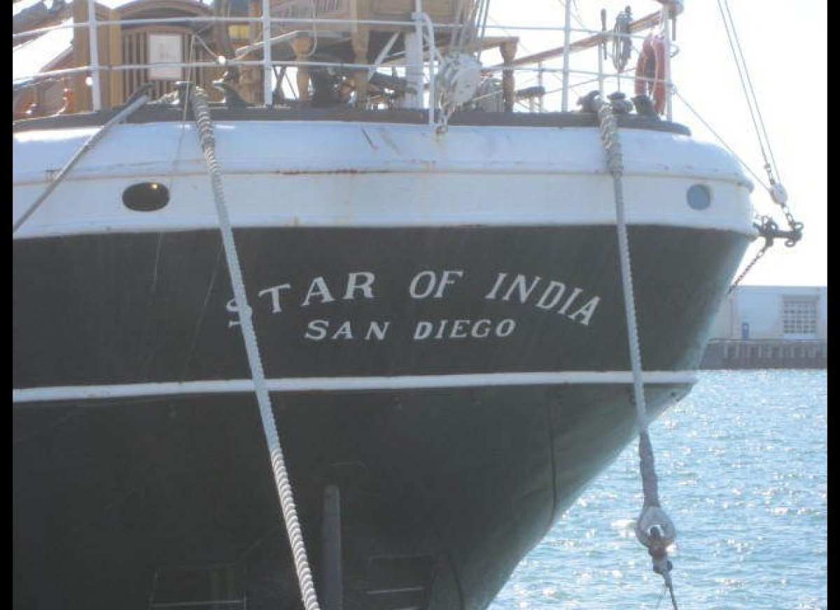 The Star of India was built in 1863. After a full career sailing from Great Britain to India and New Zealand, she became a sa