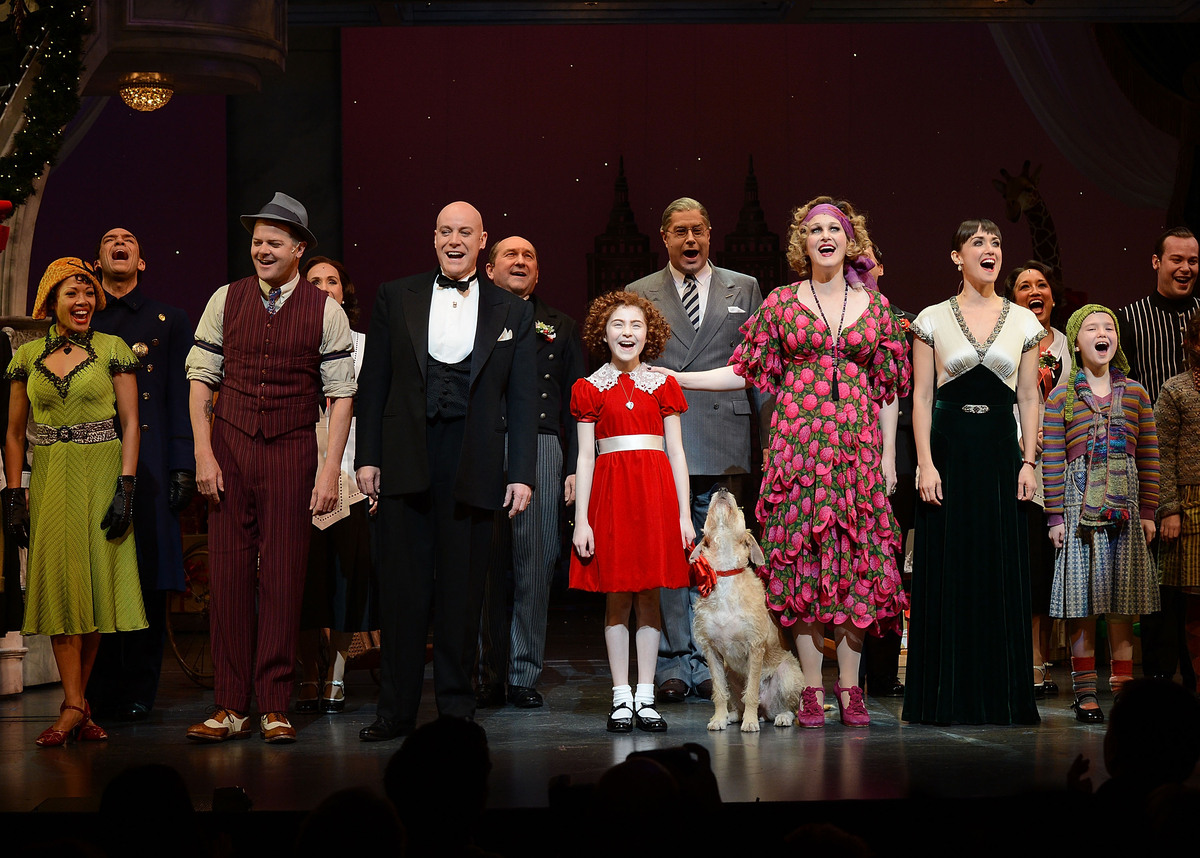 The revival of Annie is currently in its first year on Broadway, directed by James Lapine at the Palace Theater. (Photo by An