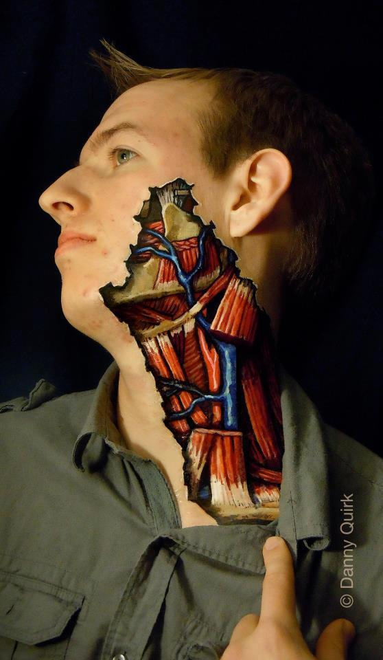 Anatomical body painting by Danny Quirk