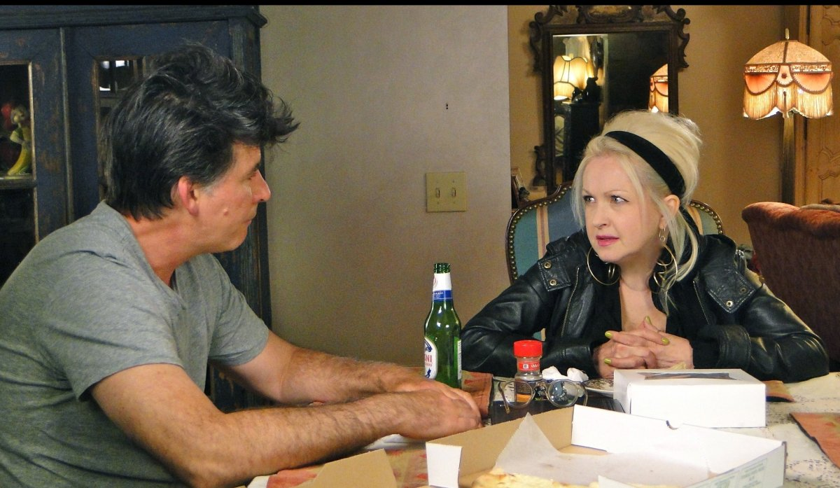 Hubby David Thornton and Lauper delve into family matters and more in the Lauper's new reality outing. 