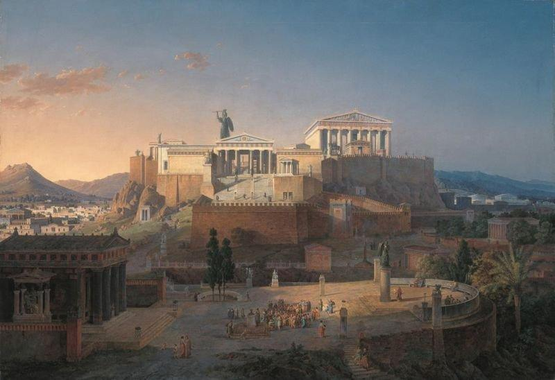 View of the Acropolis by Leo von Klenze, ca. 1846